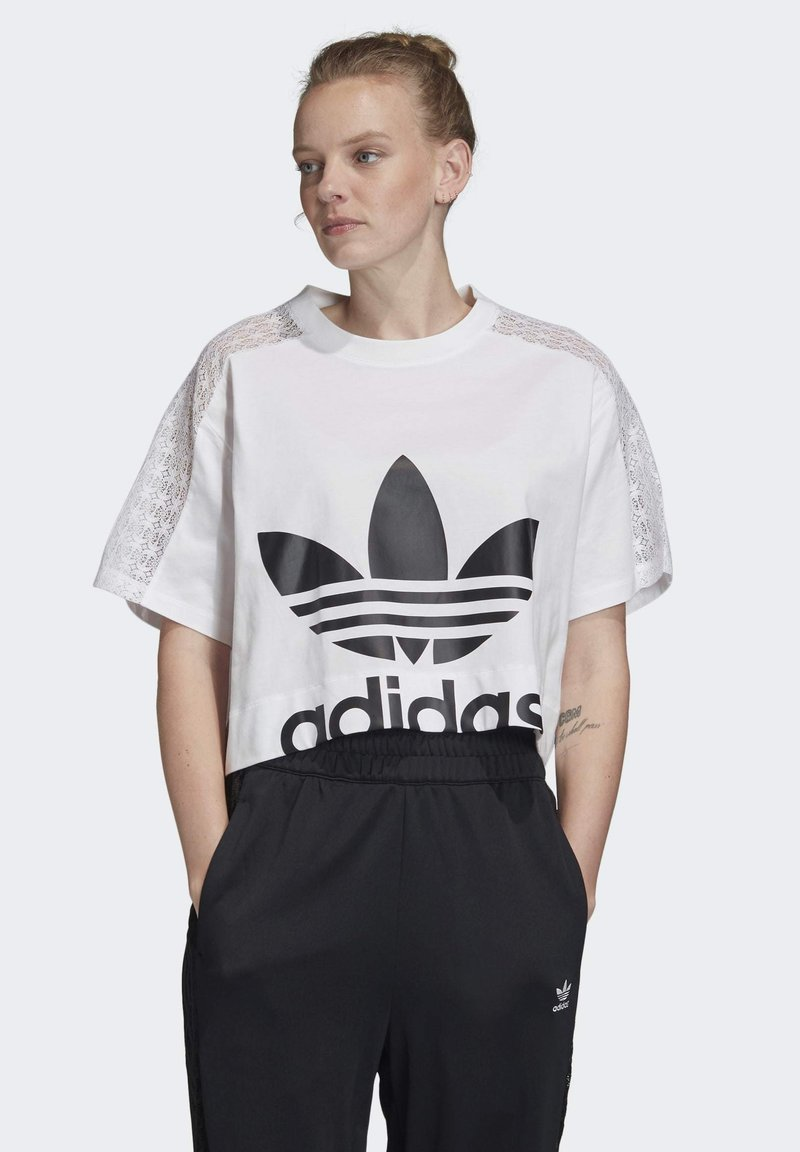 adidas Originals - LACE T-SHIRT - T-shirt print - white