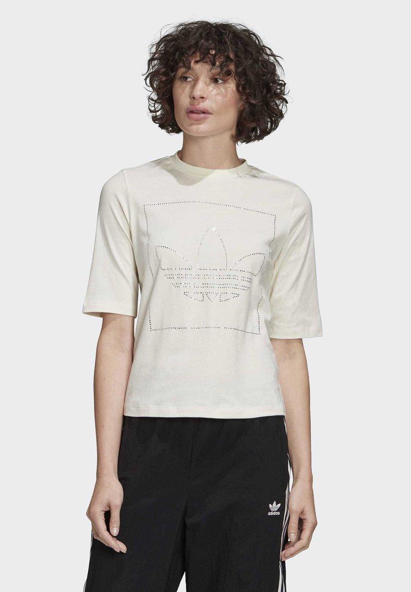 adidas Originals - T-SHIRT - T-shirt z nadrukiem - white