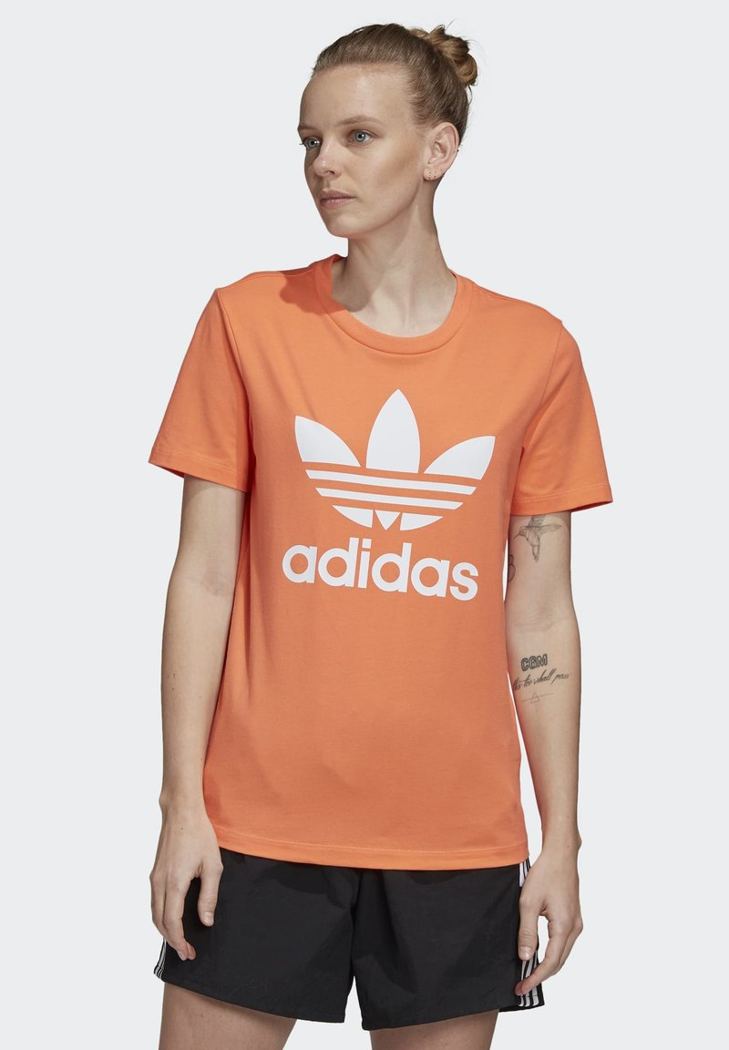 adidas Originals - TREFOIL T-SHIRT - Print T-shirt - orange