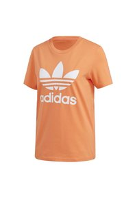 adidas Originals - TREFOIL T-SHIRT - Print T-shirt - orange - 11