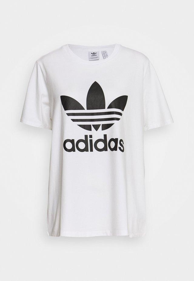TREFOIL TEE - T-shirt z nadrukiem - white/black