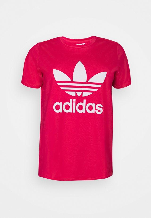 TREFOIL TEE - T-shirt imprimé - power pink/white