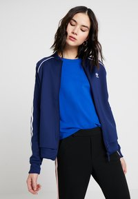 adidas Originals - ADICOLOR 3 STRIPES BOMBER TRACK JACKET - Training jacket - dark blue - 0
