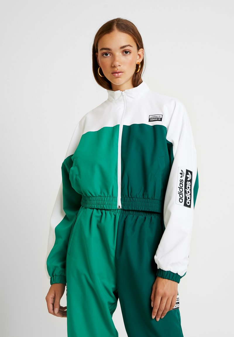 adidas Originals - TRACK - Trainingsjacke - white/bold green