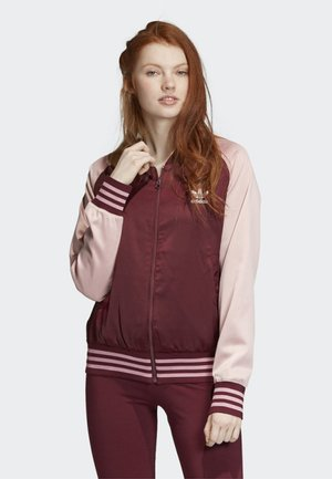 SATIN BOMBER TRACK TOP - Bombertakki - red