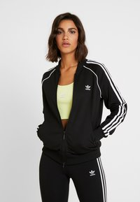 adidas Originals - SUPERSTAR ADICOLOR SPORT INSPIRED TRACK TOP - Bomber Jacket - black/white - 0