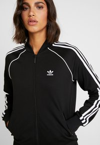 adidas Originals - SUPERSTAR ADICOLOR SPORT INSPIRED TRACK TOP - Bomber Jacket - black/white - 5