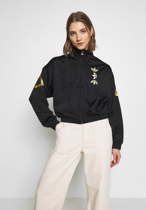 LOGO - Veste de survêtement - black/gold