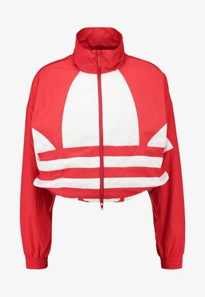 LOGO - Trainingsjacke - lush red/white