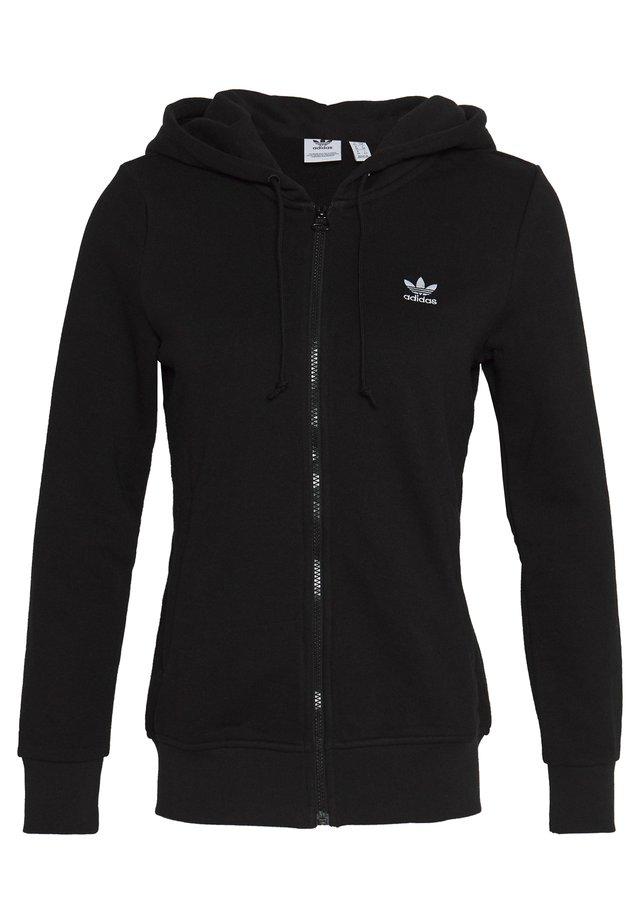 TRACK - Zip-up hoodie - black