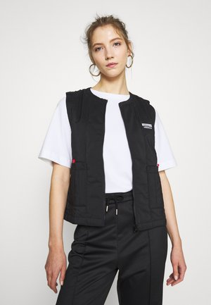 SPORTS INSPIRED REGULAR VEST - Smanicato - black