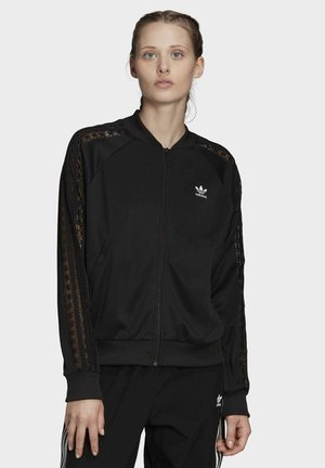LACE TRACK TOP - Bombejakke - black