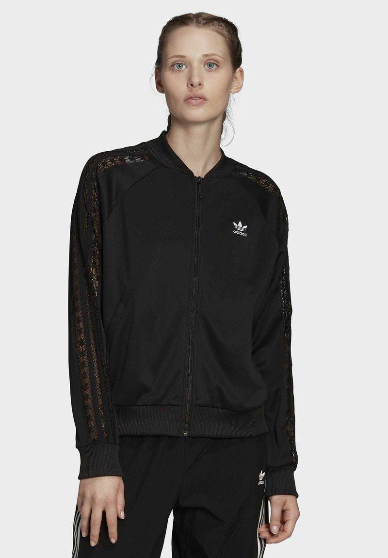 adidas Originals - LACE TRACK TOP - Bomber Jacket - black