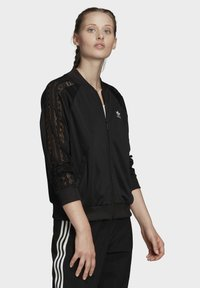 adidas Originals - LACE TRACK TOP - Bomber Jacket - black - 3