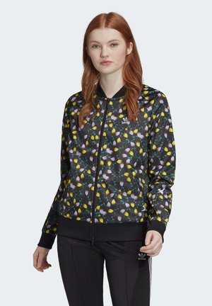 ALLOVER PRINT TRACK TOP - Blouson Bomber - black/yellow