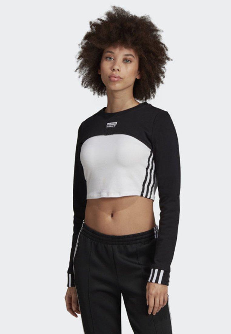 adidas Originals - SHRUG SWEATER - Sweatshirt - black