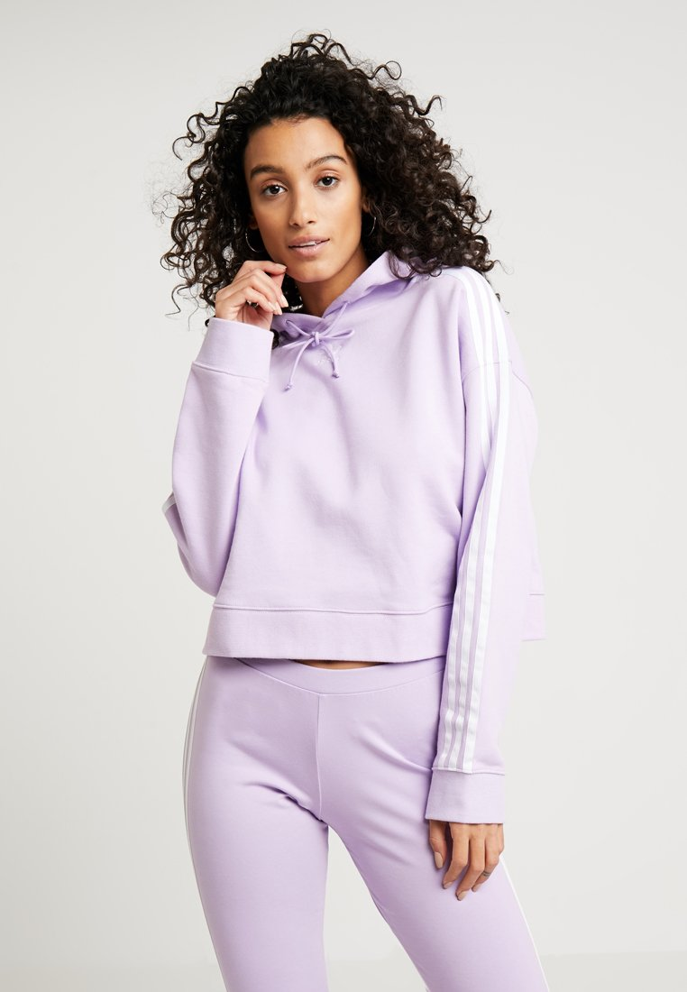 adidas Originals - CROPPED HOODIE - Kapuzenpullover - purple glow