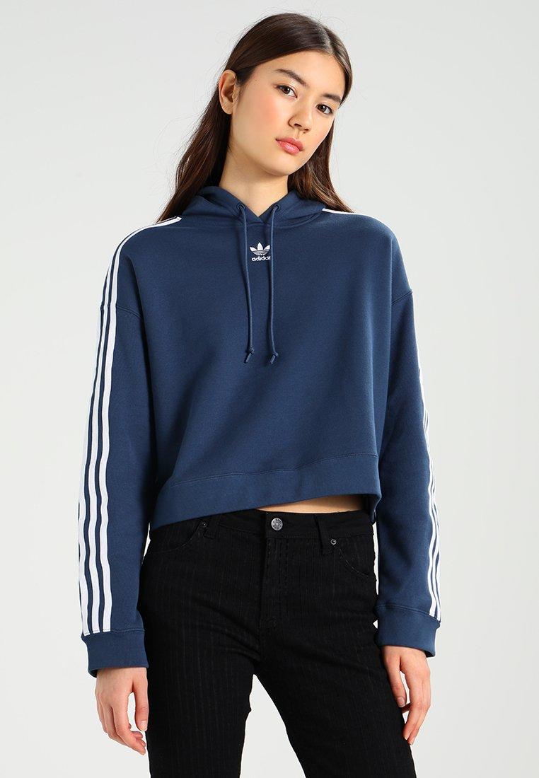 adidas Originals - CROPPED HOODIE - Kapuzenpullover - mineral blue
