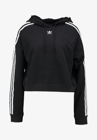 adidas Originals - CROPPED HOODIE - Hoodie - black