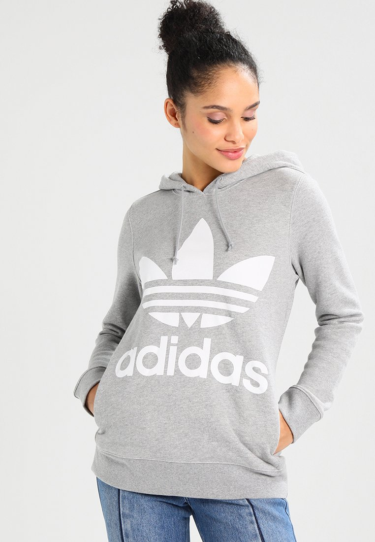adidas Originals - ADICOLOR TREFOIL HOODIE - Sweat à capuche - grey