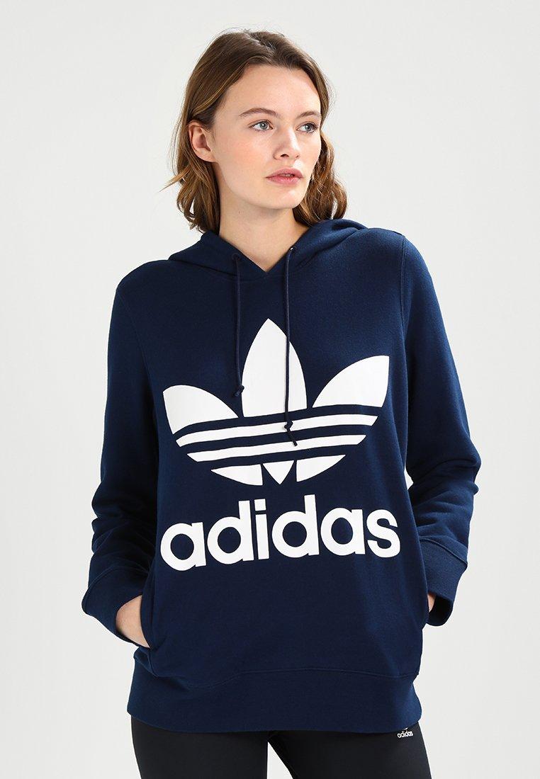 adidas Originals - ADICOLOR TREFOIL HOODIE - Jersey con capucha - collegiate navy