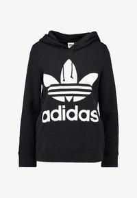 adidas Originals - ADICOLOR TREFOIL HOODIE - Sweat à capuche - black - 4