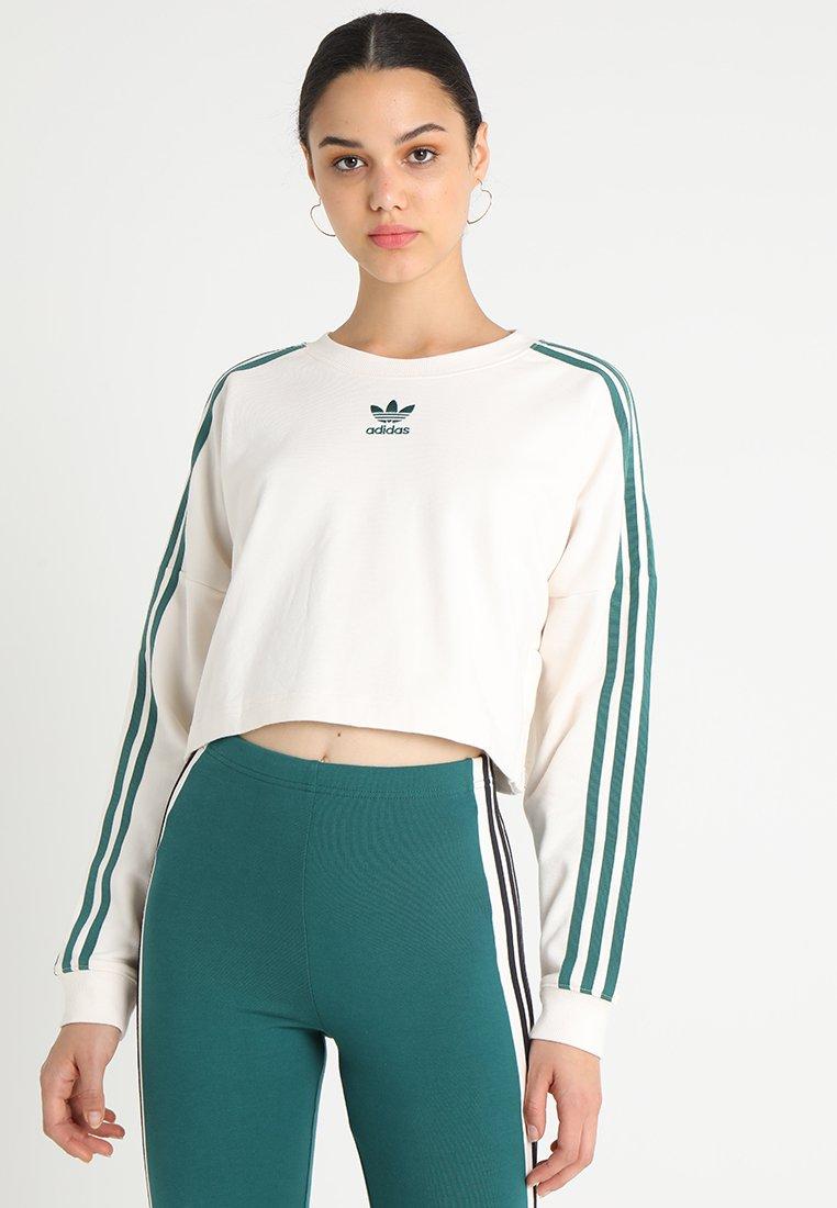 adidas Originals - CROPPED - Sweater - chalk white