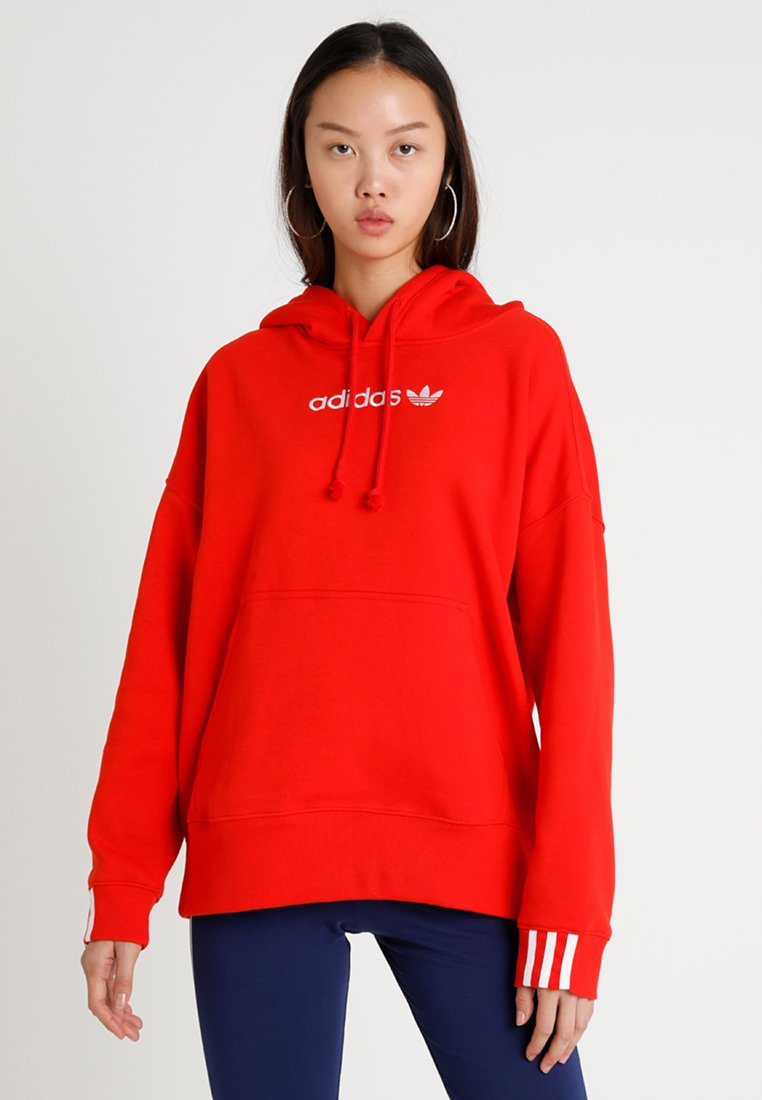 adidas Originals - COEEZE HOODIE - Bluza z kapturem - active red