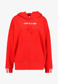 adidas Originals - COEEZE HOODIE - Bluza z kapturem - active red - 4