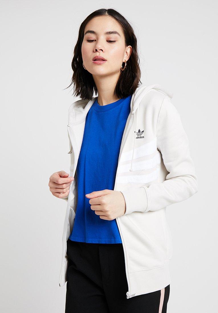 adidas Originals - ZIP HOODIE - Mikina na zip - raw white