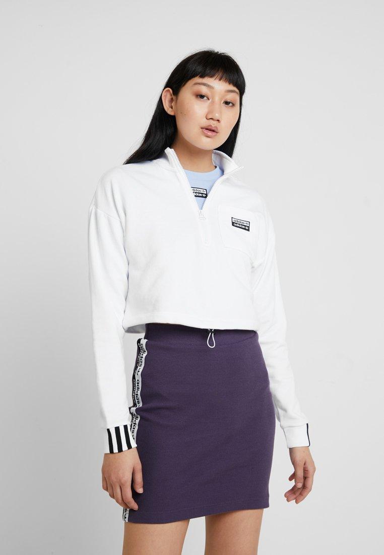 adidas Originals - HALF ZIP - Sweatshirt - white