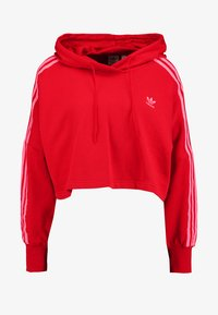 adidas Originals - CROPPED HOOD - Bluza z kapturem - red