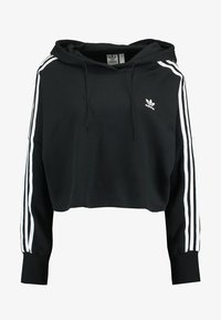 adidas Originals - ADICOLOR CROPPED HODDIE SWEAT - Bluza z kapturem - black