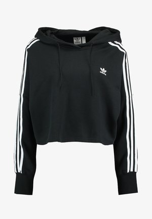 CROPPED HOOD - Sweat à capuche - black