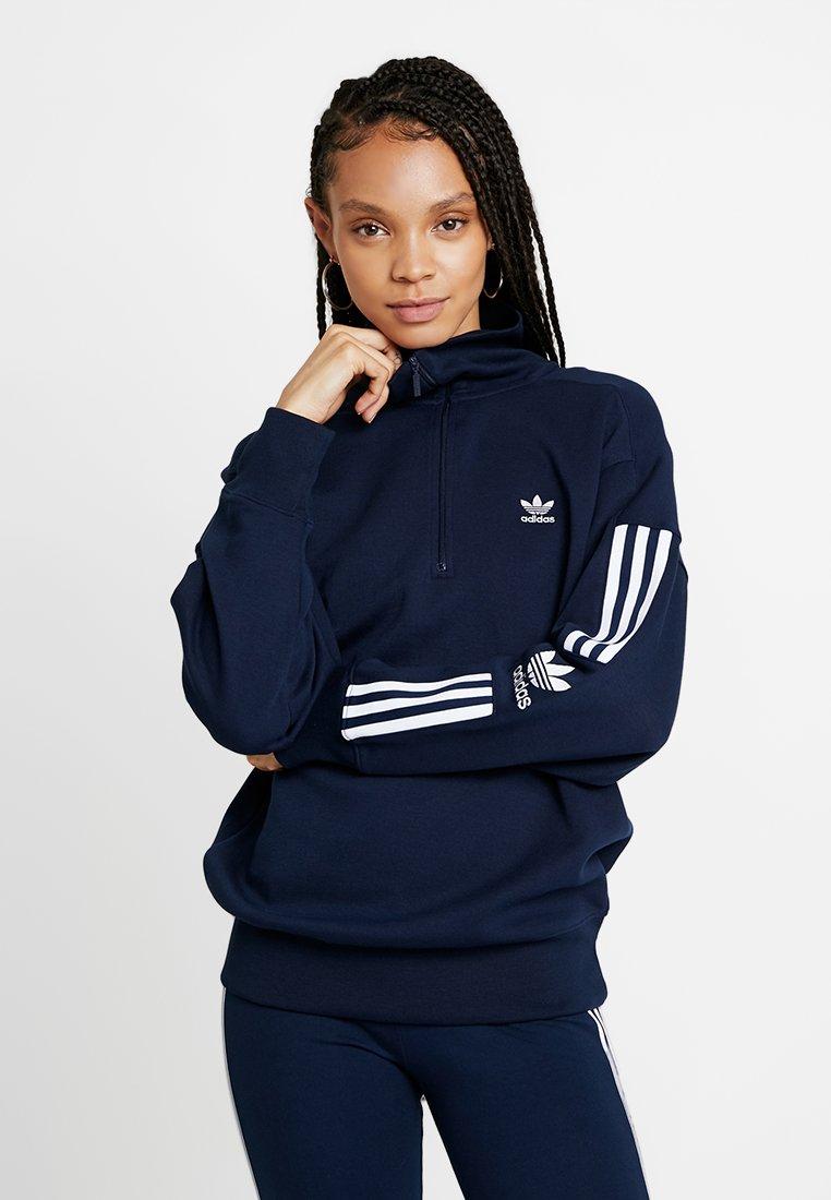 adidas Originals - ADICOLOR HALF-ZIP PULLOVER - Sweatshirt - collegiate navy
