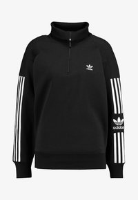 adidas Originals - ADICOLOR HALF-ZIP PULLOVER - Sweatshirt - black - 4