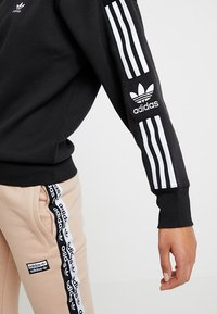 adidas Originals - ADICOLOR HALF-ZIP PULLOVER - Sweatshirt - black - 5