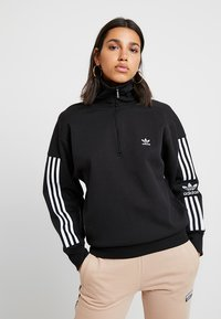 adidas Originals - ADICOLOR HALF-ZIP PULLOVER - Sweatshirt - black - 0