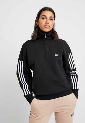 ADICOLOR HALF-ZIP PULLOVER - Sweatshirt - black