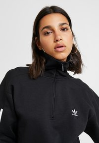 adidas Originals - ADICOLOR HALF-ZIP PULLOVER - Sweatshirt - black - 3