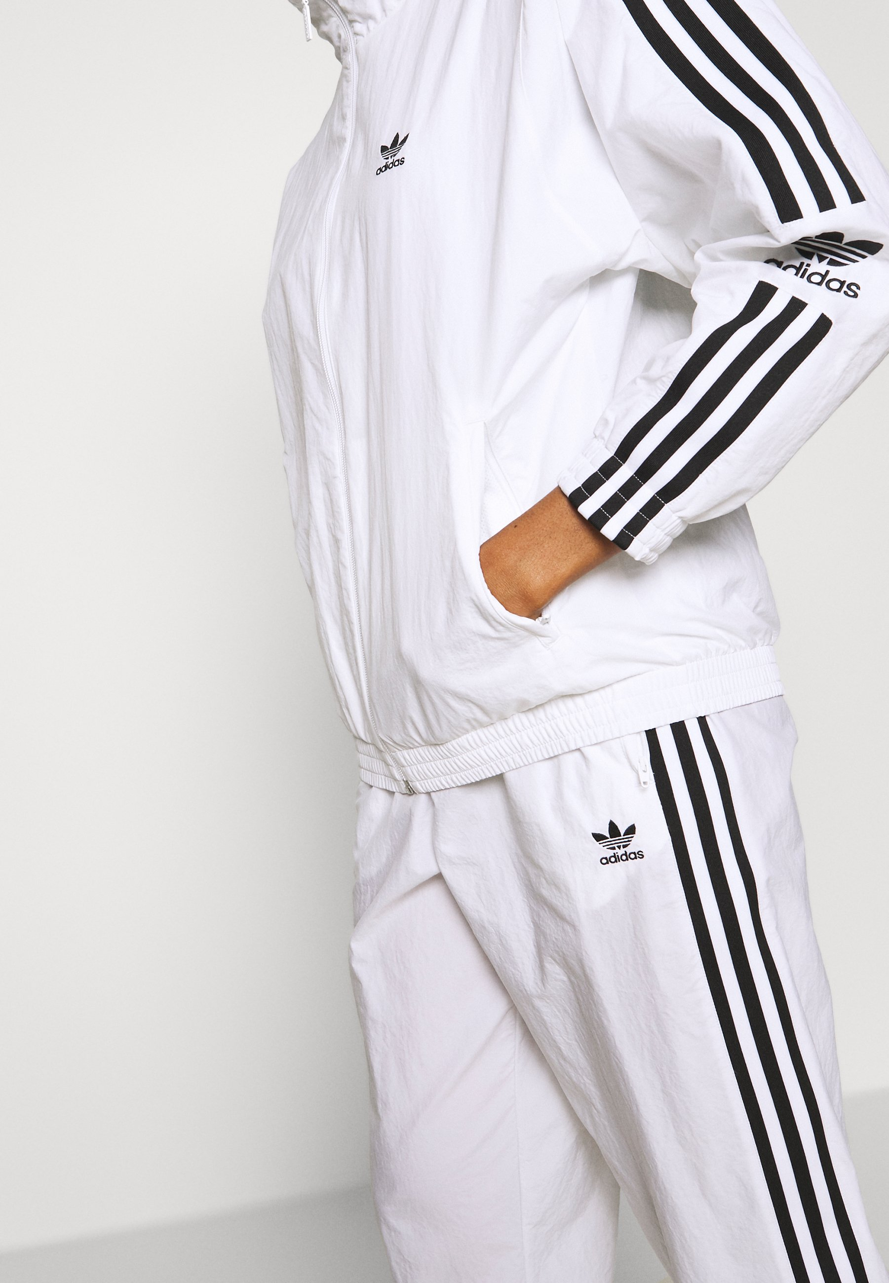 Adidas Originals Adicolor Sport Inspired Nylon Jacket - Giacca A Vento White sLlGztE