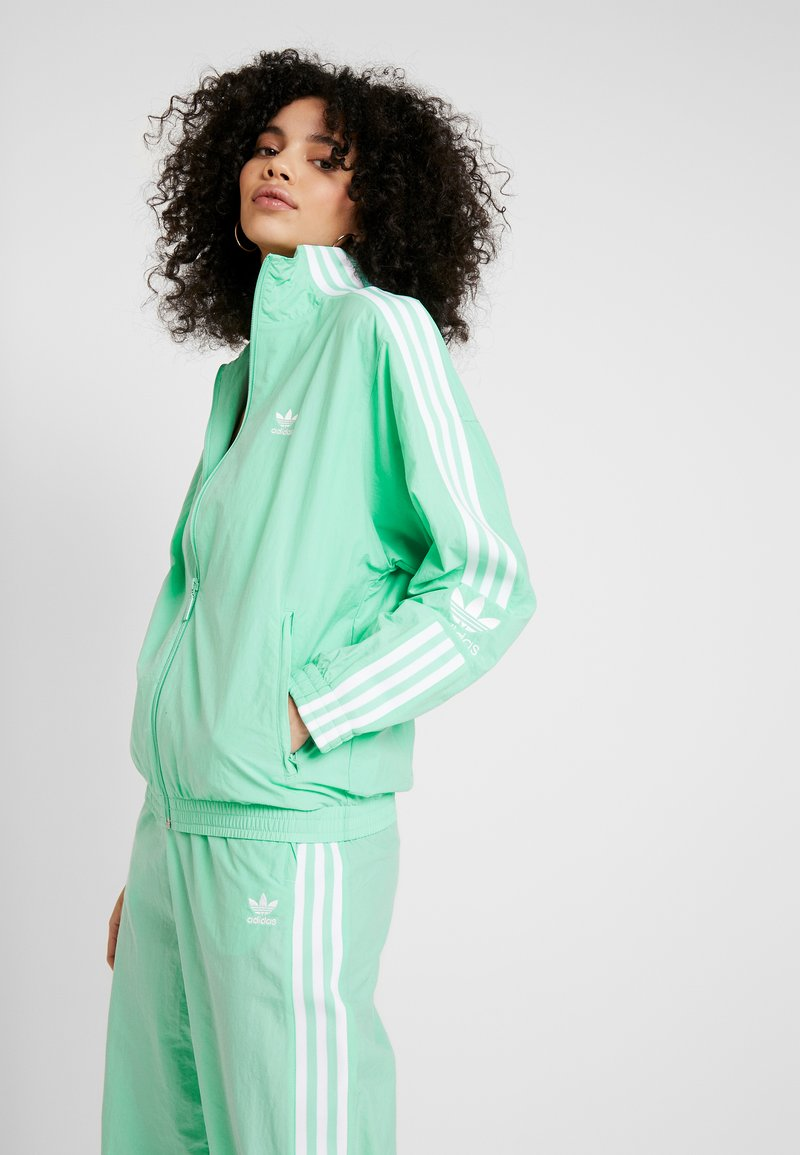adidas Originals - LOCK UP - Summer jacket - prism mint/white