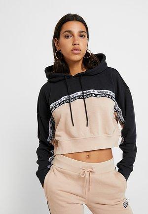 CROPPED HOODIE - Jersey con capucha - ash pearl/black
