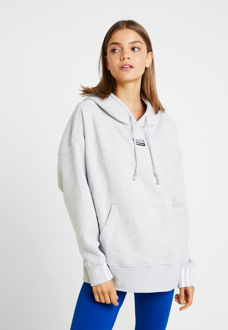 adidas Originals - HOODIE - Hoodie - light grey heather