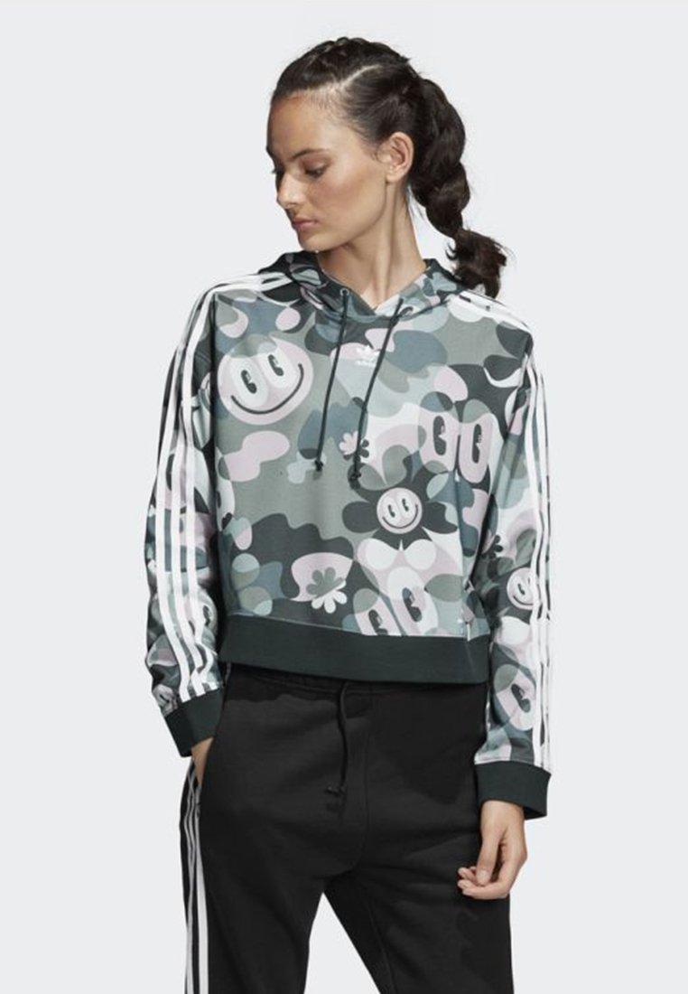 adidas Originals - CROPPED HOODIE - Bluza z kapturem - multicolour