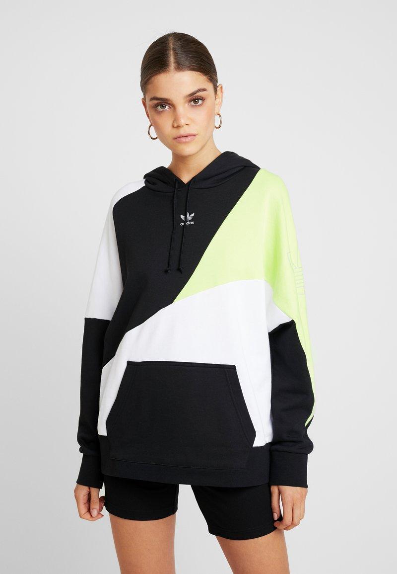 adidas Originals - COLOUR BLOCKING DESIGN HOODIE - Jersey con capucha - black