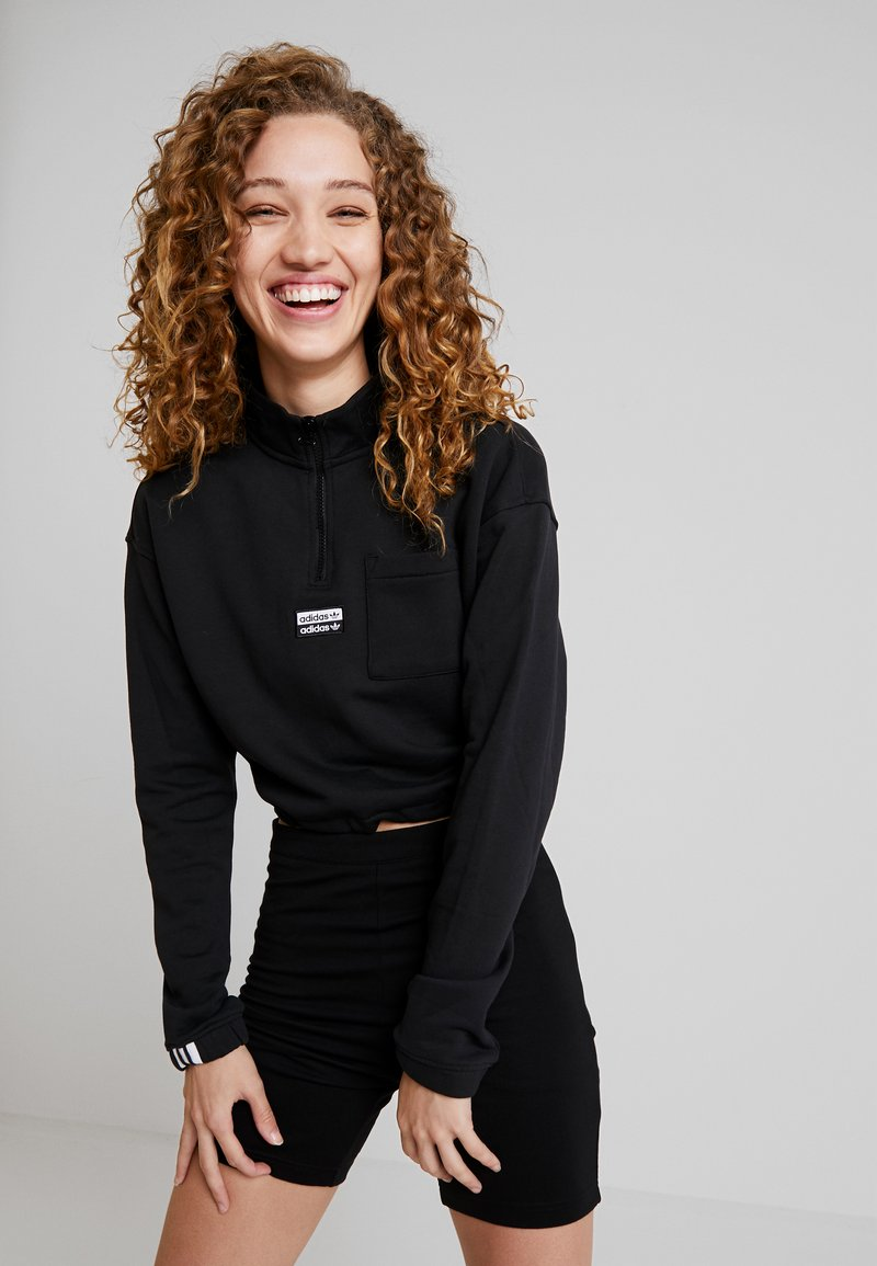 adidas Originals - HALF ZIP - Sweater - black