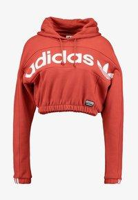 adidas Originals - HOODIE CROPPED - Hoodie - shift orange - 4