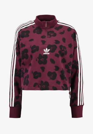 BELLISTA ALLOVER PRINT PULLOVER - Sweatshirt - maroon/black