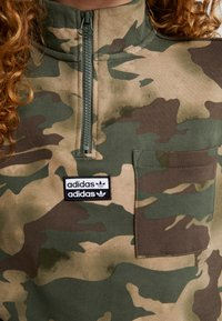 adidas Originals - HALF ZIP - Sweatshirt - hemp/earth green/base green/cargo brown - 5